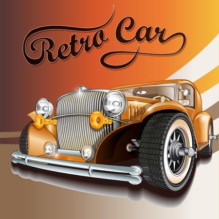 car: Retro car.