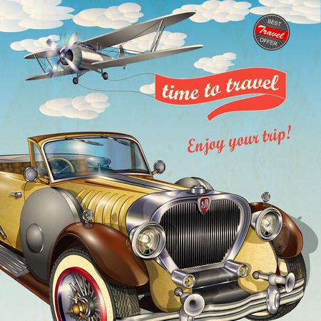 voyage vintage: affiche de Voyage Vintage