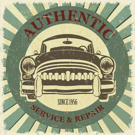 authentic: Authentic service retro poster