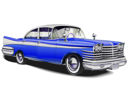 Retro samochodu. Ilustracje wektorowe
