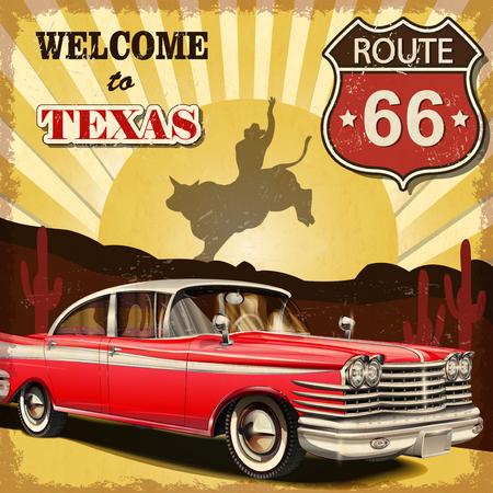 Benvenuti a poster retrò Texas. Archivio Fotografico - 50143101