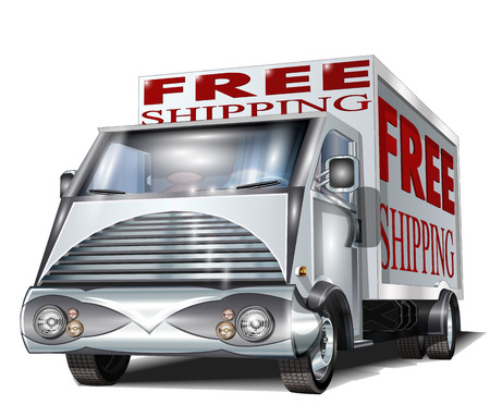 transportation silhouette: Free Shipping Truck