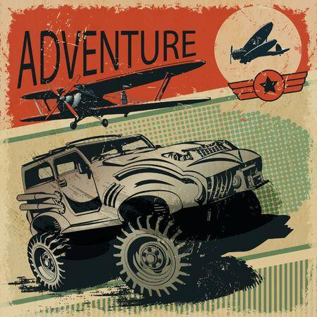 grunge poster avventura