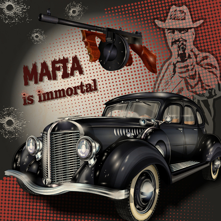 mafia or gangster background Illustration