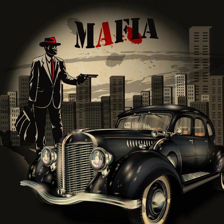 mafia or gangster background  イラスト・ベクター素材