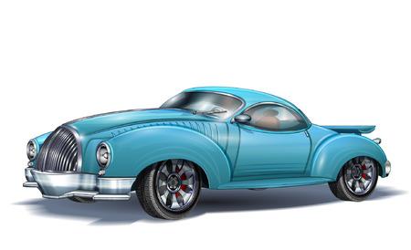 Sport Retro Auto Vektorgrafik