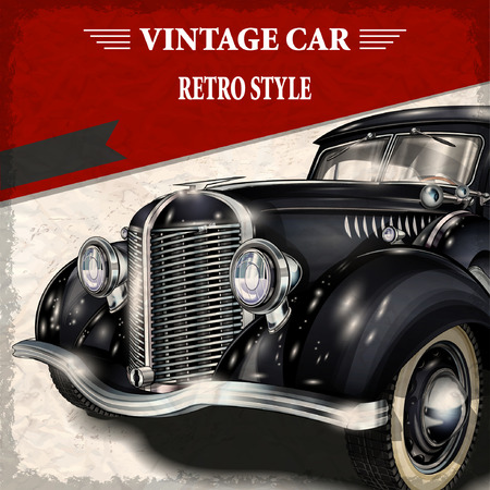 Samochód Vintage Ilustracje wektorowe