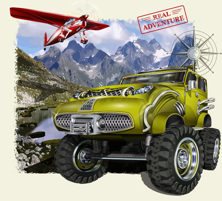 off road: Adventure vector poster
