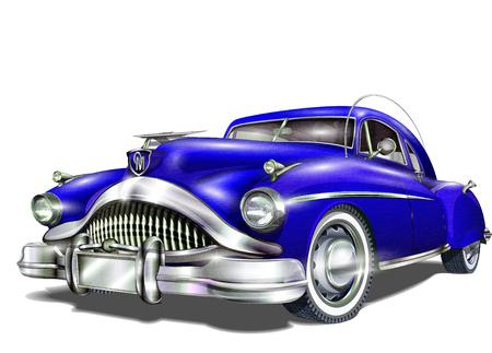 Retro car.