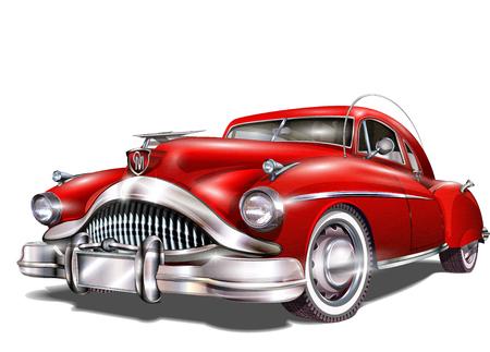 car repair shop: Retro car.