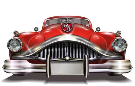 Auto retro.  Ilustración de vector