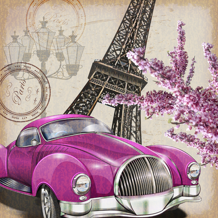 cartel de París de la vendimia.