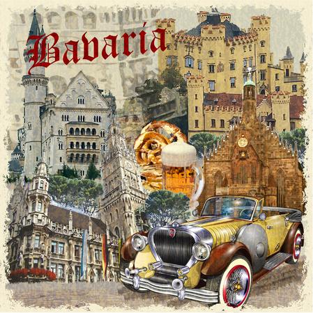 Bavaria vintage poster.