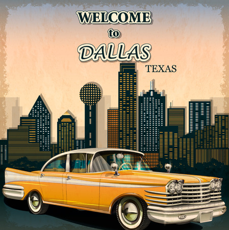 Welcome to Dallas retro poster.