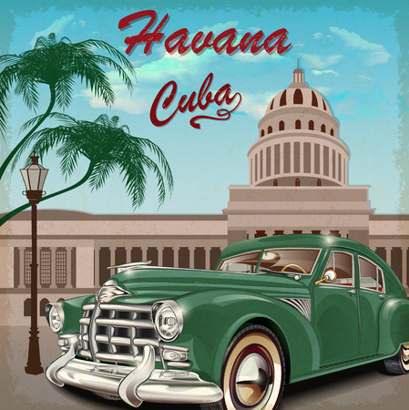 old fashioned: Cuba retro poster.
