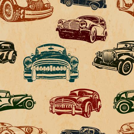 Cool illustration of a vintage car background.