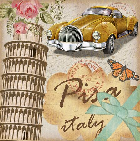 Pisa vintage poster.