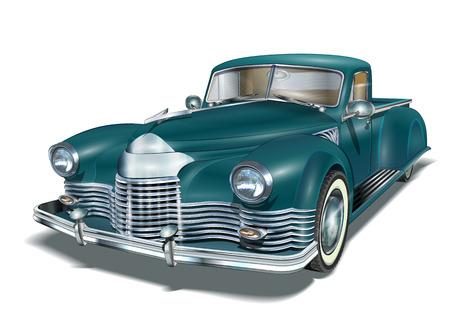 Vintage auto Stock Illustratie