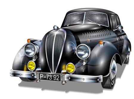 Retro auto. Stock Illustratie