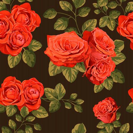 원활한 빈티지 패턴과 장미, 스톡 콘텐츠 - 84008981
