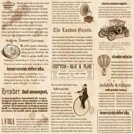 Nahtlose alte Zeitung britischen Hintergrund.