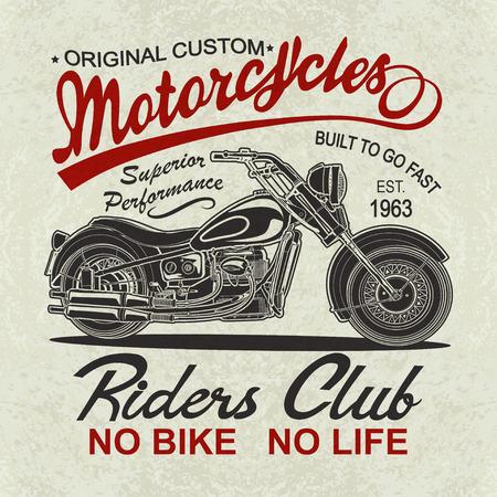 Vintage  motorcycle  poster , t-shirt  print.