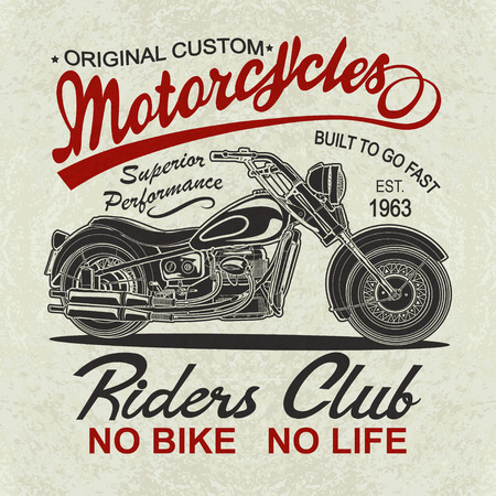 Vintage  motorcycle  poster , t-shirt  print.