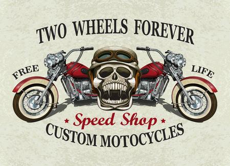 빈티지 사용자 지정 오토바이 포스터, t- 셔츠 인쇄입니다.