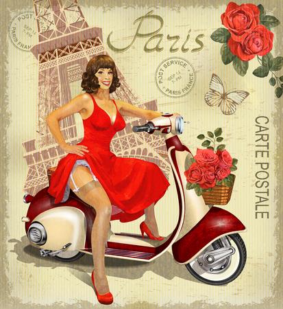 빈티지 포스터 파리입니다.