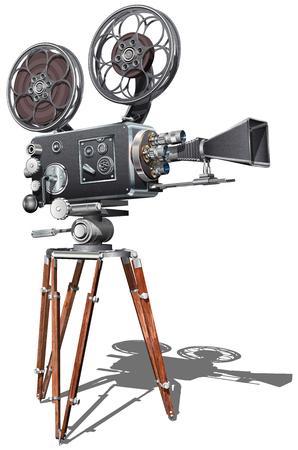 Vintage movie camera.