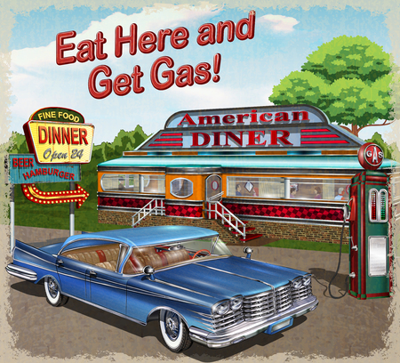 Diner vintage poster.