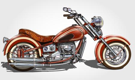 Classic vintage motorcycle. Stok Fotoğraf - 87911474
