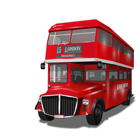Vintage London Bus Vektorgrafik
