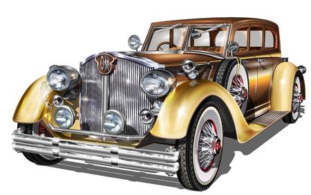 Retro Auto isoliert Vektorgrafik