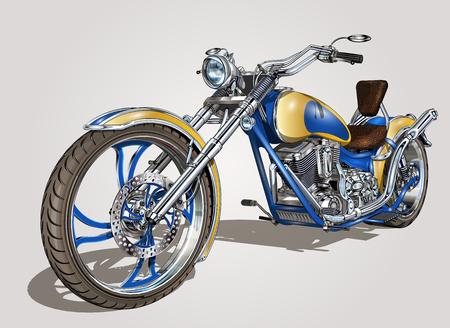 Klassieke vintage motorfiets. Stock Illustratie