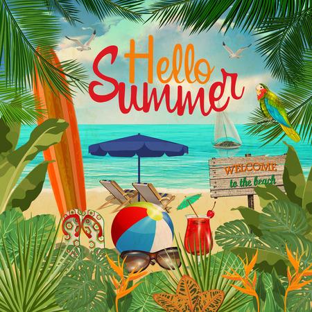 Hello Summer  poster.