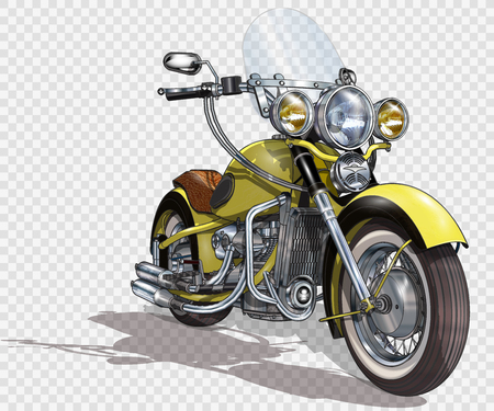 Classic vintage motorcycle. Иллюстрация