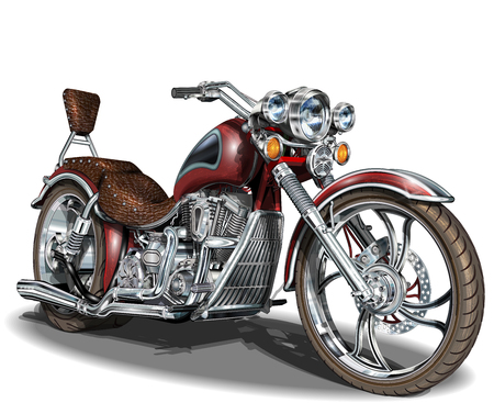 Classic vintage motorcycle. Stock Illustratie