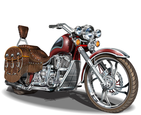 Classic vintage motorcycle. Vettoriali