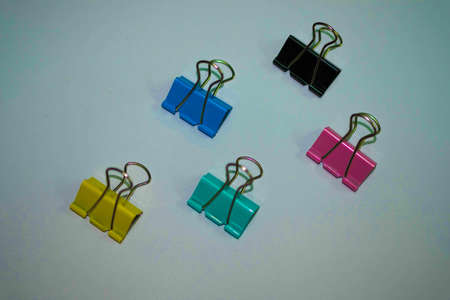 Binder clips, stamp paper clip Stock Photo
