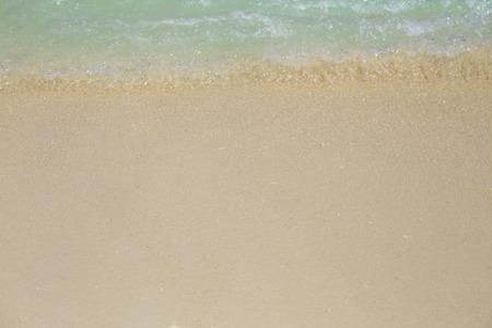 The beach is clean white sandy beach.