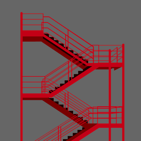 escape: Fire escape Minimal vector