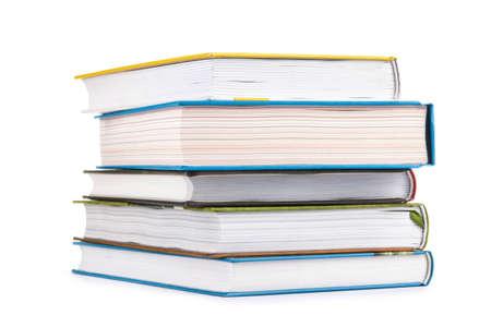 Isolated stack of books Zdjęcie Seryjne