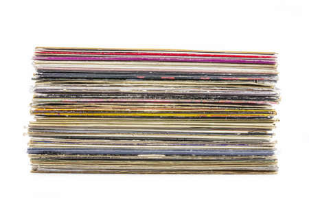 Vinyl records stack