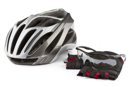 cycling helmet: Bicycle sportswear Stock Photo