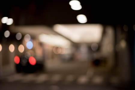 taillight: Blurred  Defocussed abstract background of hotel entrance with lights and Taxi Taillight taken in Japan