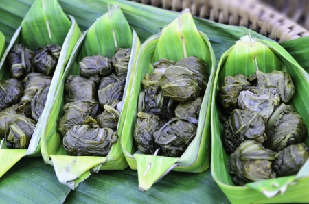 Cabbage fermented in banana leaf counts