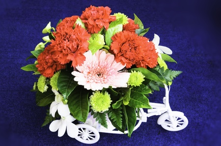 Bouquet of fresh flowers  used for decoration at the time photo