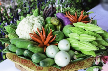 Vegetables in the annual exhibition of agricultural farmers