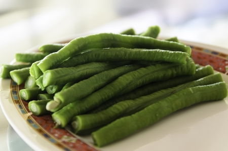 long green bean on a plate in a restaurant Stock Photo - 20301028